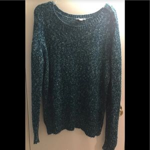 Women's Sparkly Green Sweater-Size XL